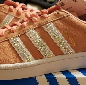 Blinged out Adidas Campus womens sz 10